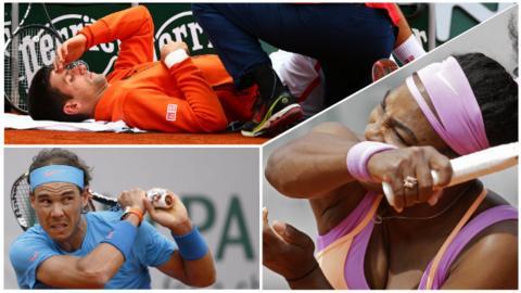 Novak Djokovic, Serena Williams and Rafael Nadal