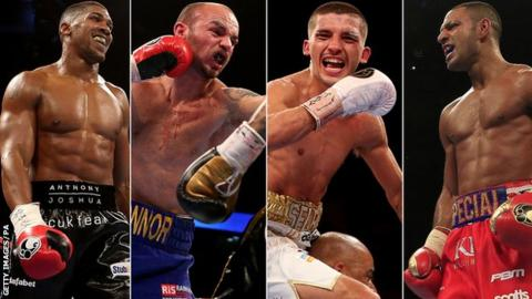 Anthony Joshua, Kevin Mitchell, Lee Selby and Kell Brook