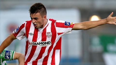 Derry City striker Mark Timlin