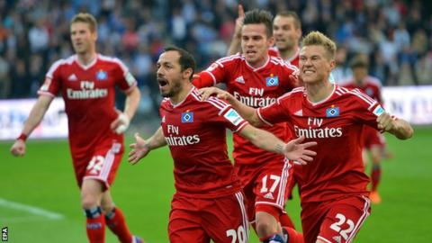 Hamburg players