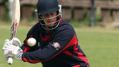 James McCollum batting for Waringstown