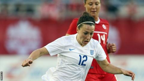 Lucy Bronze in action for England Women