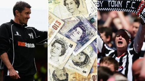 Chris Hurst, a lot of cash notes and a Grimsby fan