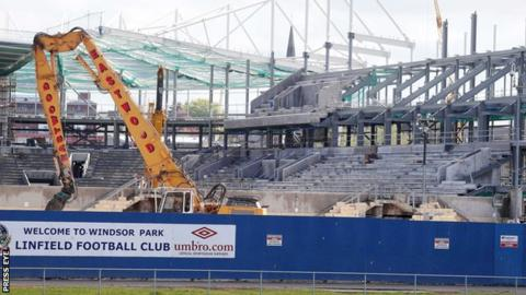 The Irish FA were told that the West Stand had to be pulled down