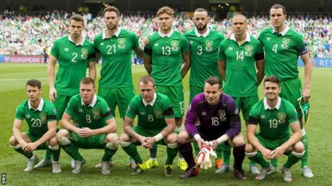 Republic of Ireland's starting 11