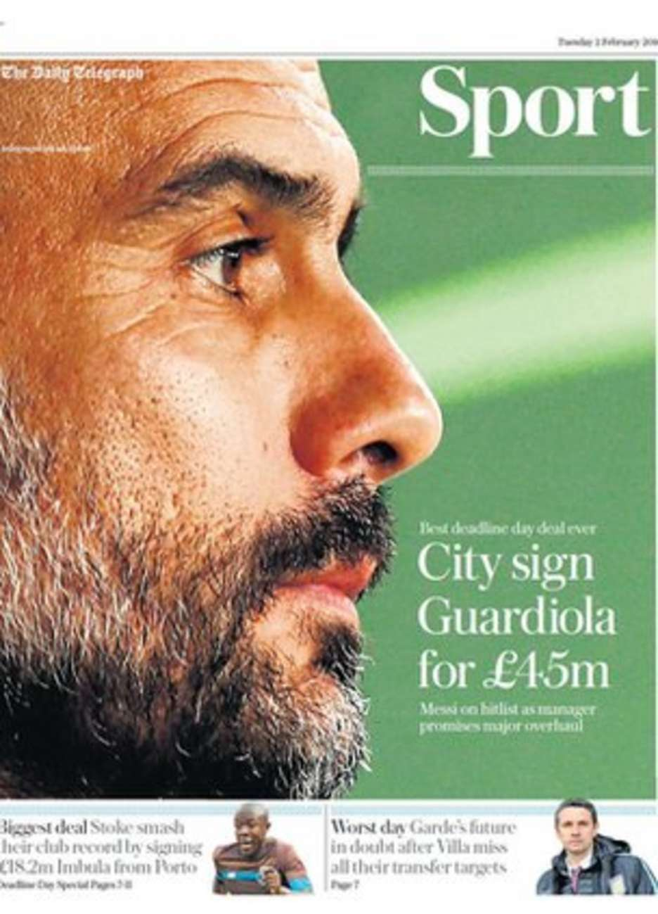 Today's newspaper gossip: Guardiola best paid coach in the world, Terry could move to Qatar