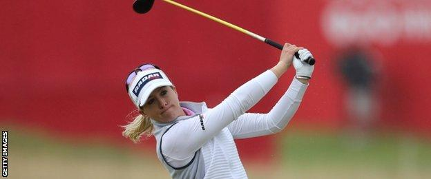 Jodi Ewart Shadoff plays a shot during her final round