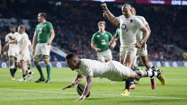 Six nations 2016 england beat ireland to go top of table bbc sport - English rugby union league tables ...