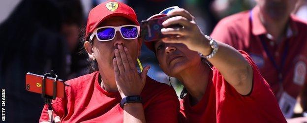 Ferrari fans at the Spanish Grand Prix