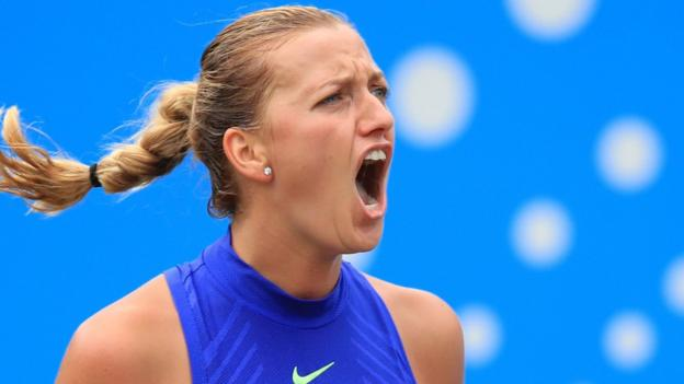 Aegon Classic: Petra Kvitova wins first title since stabbing by beating Ashleigh Barty - BBC Sport