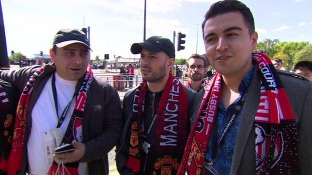 Fans from Azerbaijan