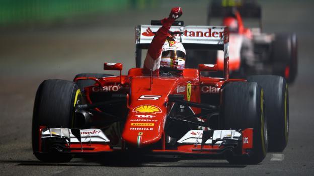 Sebastian Vettel wins as Lewis Hamilton retires in Singapore - BBC ...