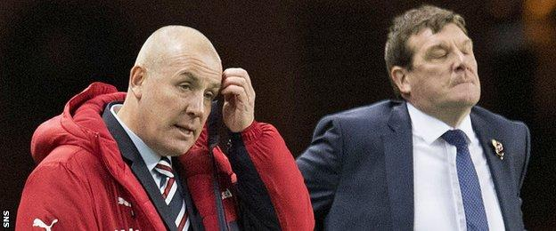 Mark Warburton and Tommy Wright