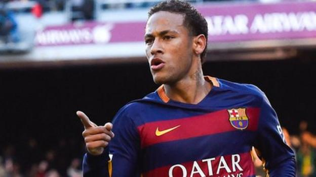 Neymar is first Barcelona player to win La Liga player of month ...