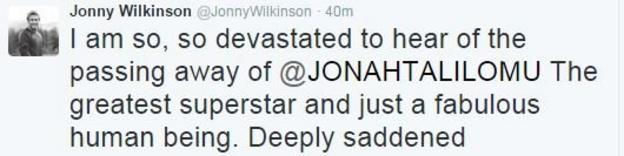 England's 2003 World Cup winner Jonny Wilkinson
