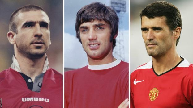 Eric Cantona, George Best and Roy Keane