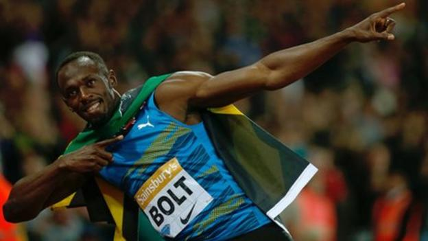 Usain Bolt wins 100m at London 2012 Anniversary Games - BBC ...