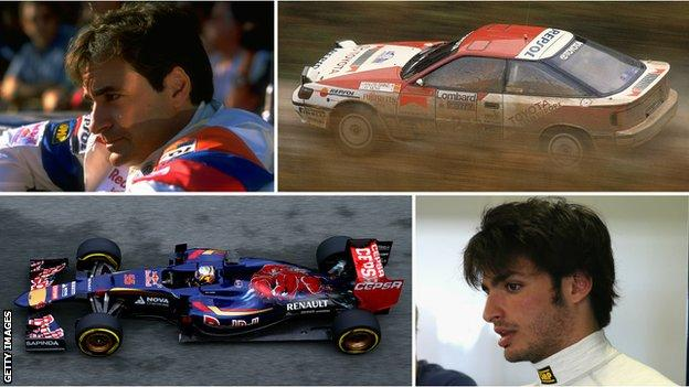 Carlos Sainz and Carlos Sainz Jr