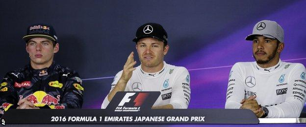 Verstappen, Rosberg and Hamilton