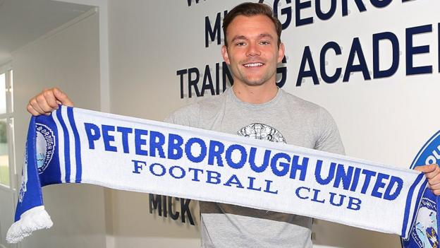 danny lloyd peterborough united sign stockport county. Black Bedroom Furniture Sets. Home Design Ideas
