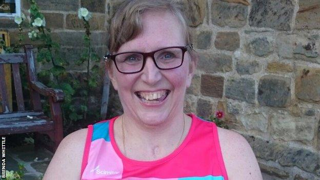 Dr Brenda Whittle is aiming to walk the last 10 steps of the Great North Run