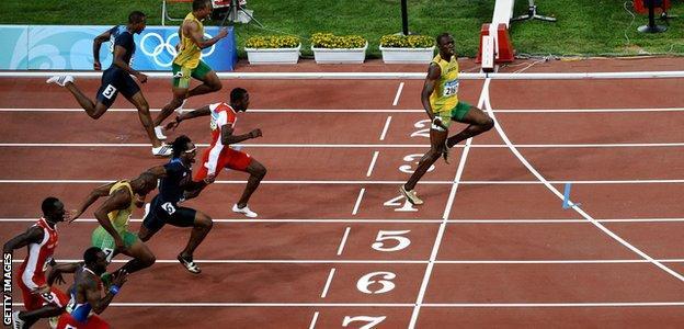 Usain Bolt 100m final, 2008