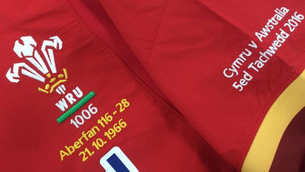 Wales to wear an emblazoned jersey against Australia in memory of Aberfan