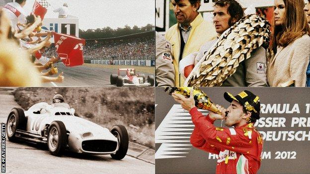Senna, Stewart, Fangio and Alonso