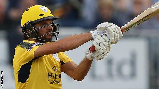 Afridi's 42-ball ton helps Hampshire to Finals Day - highlights & report