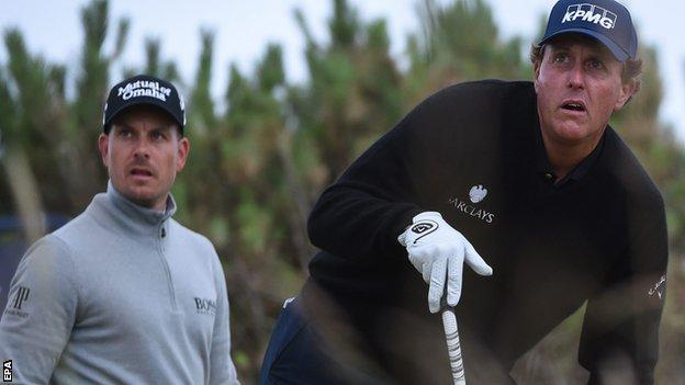 Henrik Stenson (left) and Phil Mickelson