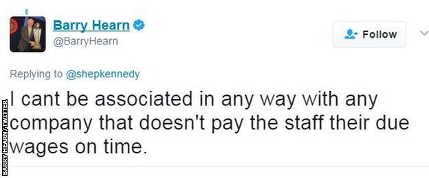 Barry Hearn on Twitter