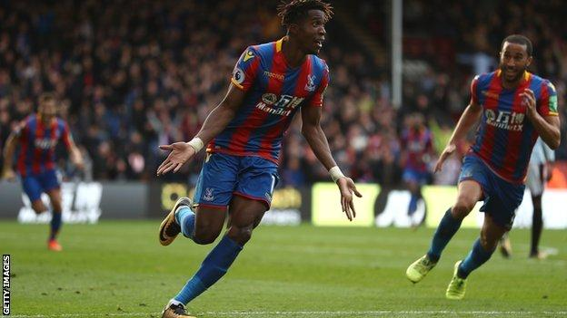 Crystal Palace forward Wilfried Zaha