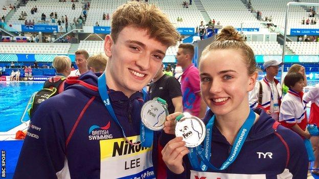 Lois Toulson and Matty Lee of Great Britain