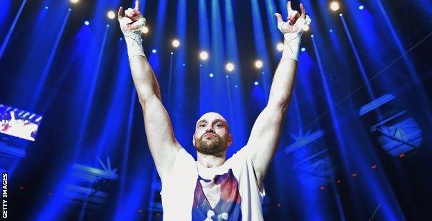Tyson Fury celebrates after defeating Wladimir Klitschko to become new world heavyweight champion