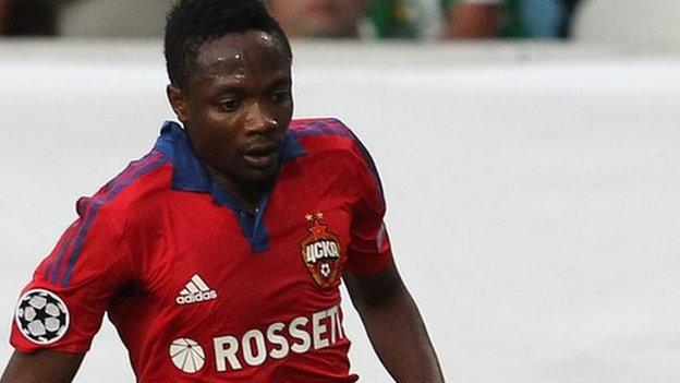 CSKA Moscow insist Nigeria's Ahmed Musa is staying put - BBC Sport