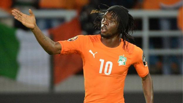 Gervinho replaces Kalou for Ivory Coast