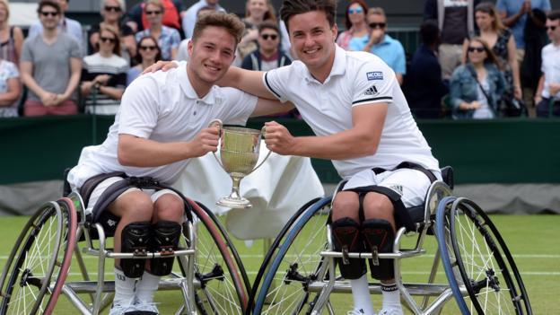 Wimbledon 2016: Gordon Reid & Alfie Hewett win wheelchair doubles