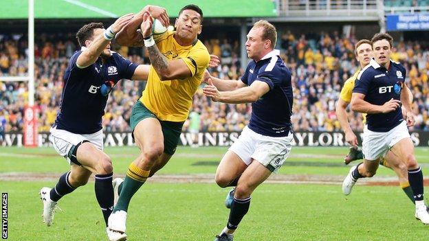 Scotland fended off some fierce Australian pressure