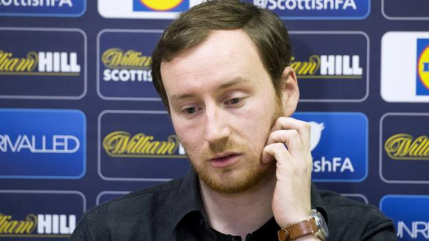 Hearts Head coach Ian Cathro regrets awkward post-match interview