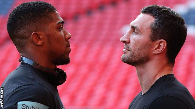 Joshua and Klitschko face off