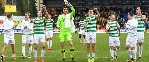 Celtic celebrate their new record