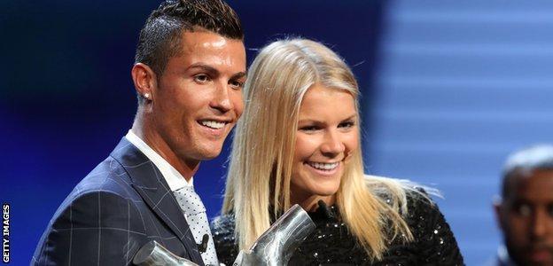 Ada Hegerberg and Cristiano Ronaldo