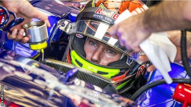 Brendon Hartley of Toro Rosso