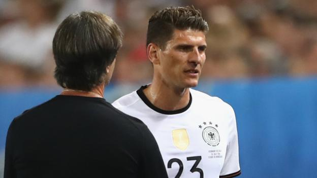 Euro 2016: Germany's Mario Gomez suffers hamstring injury