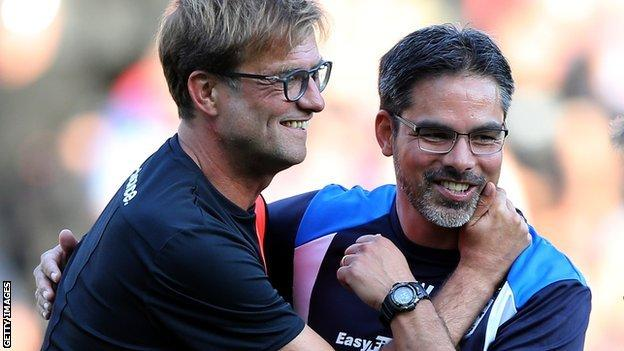 Jurgen Klopp and David Wagner
