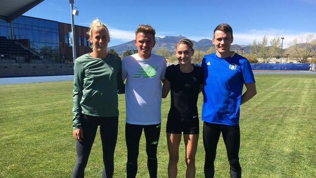Lynsey Sharp, Andrew Butchart, Jo Moultrie and Chris O'Hare
