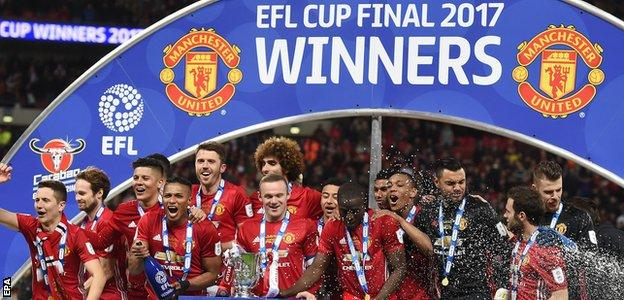 Manchester United lift the EFL Cup