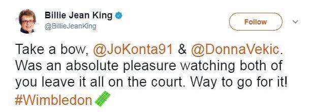 Billie Jean King tweet