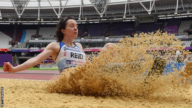 Stef Reid won the first of Britain's five gold medals on day two