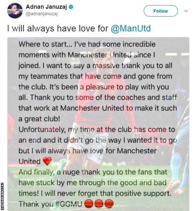 Adnan Januzaj Twitter